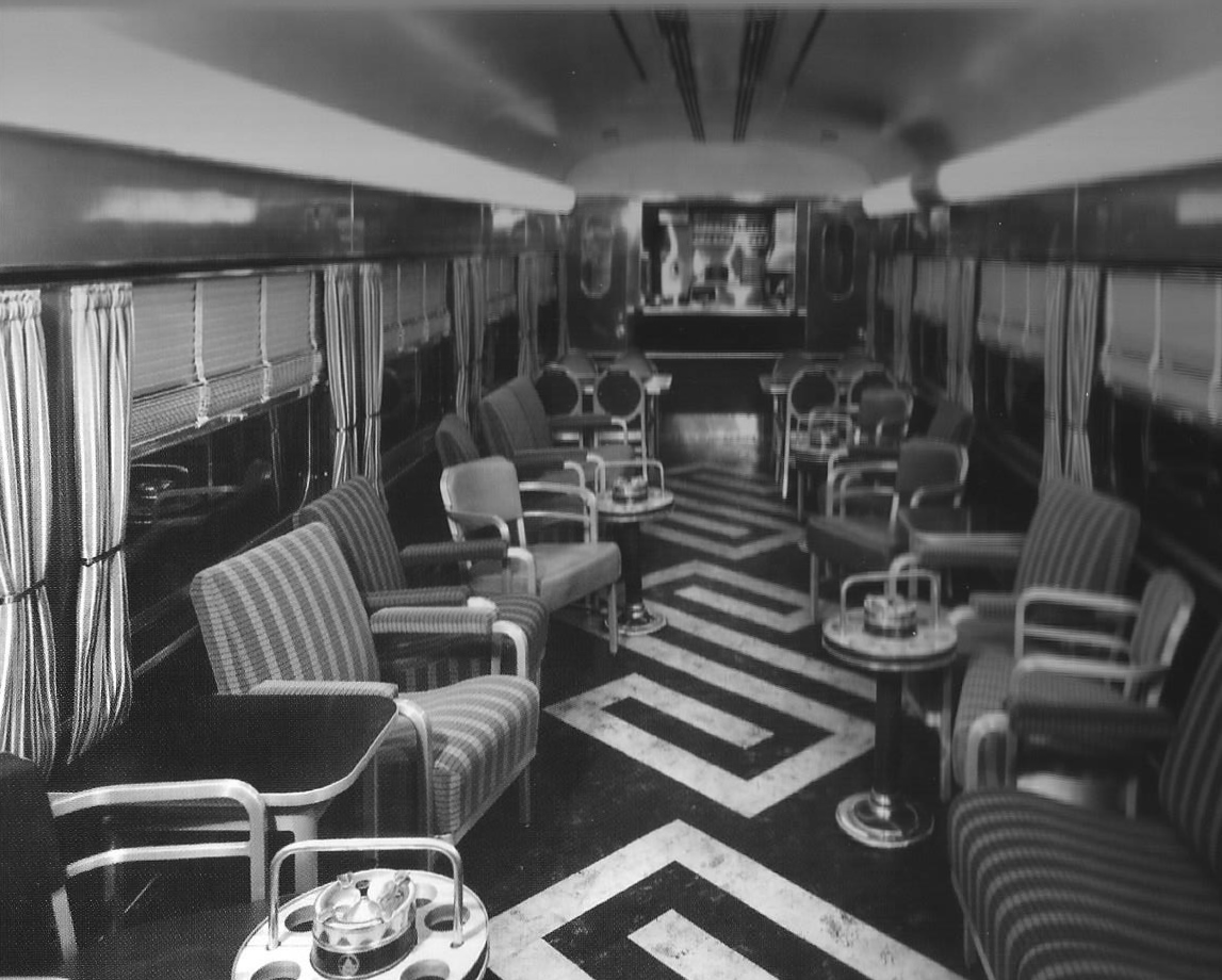 baltimore and ohio lounge car late 40s early 50s streamliner memories. Black Bedroom Furniture Sets. Home Design Ideas
