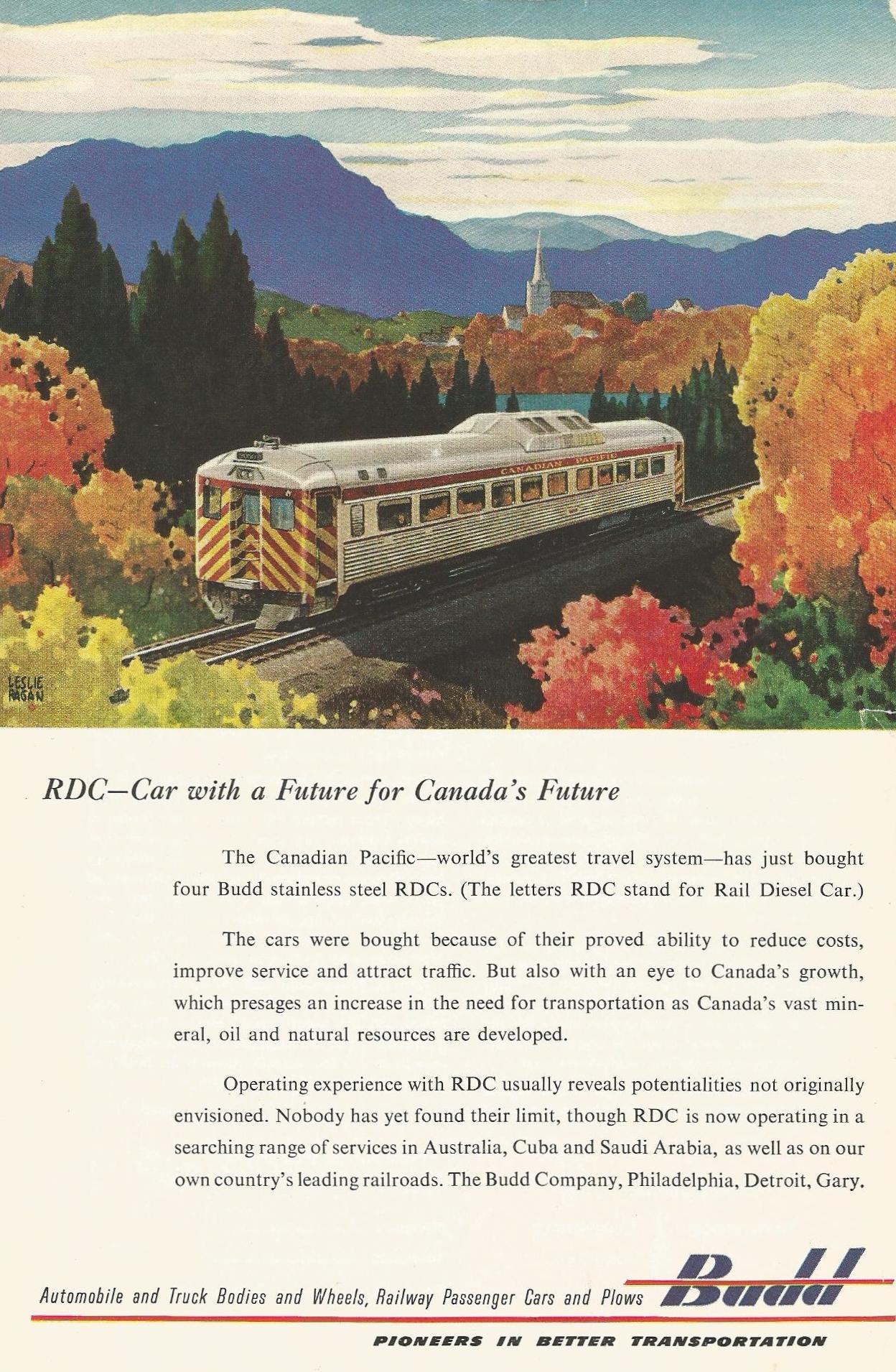 Canadian Pacific Rail Diesel Cars   Streamliner Memories